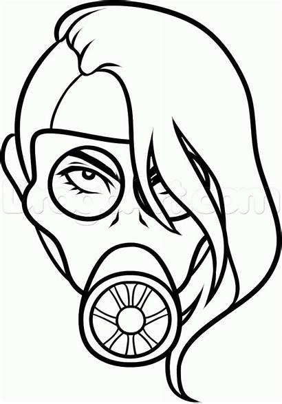 Mask Gas Tattoo Draw Step Drawing Tattoos