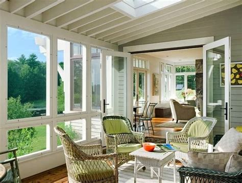 england farmhouse  sunroom decorating