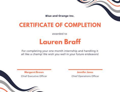 customize  internship certificate templates  canva