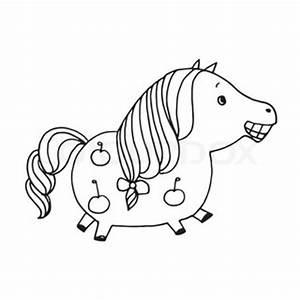 Pferdekopf Schwarz Weiß : lustige pferd cartoon stock vektor colourbox ~ Watch28wear.com Haus und Dekorationen