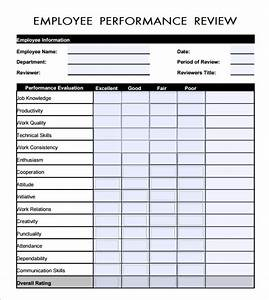 Employee evaluation form 16 download free documents in pdf for Job performance documents