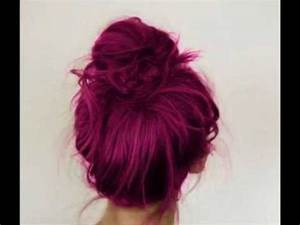 Plum Hair Colour: Tumblr Inspired - YouTube