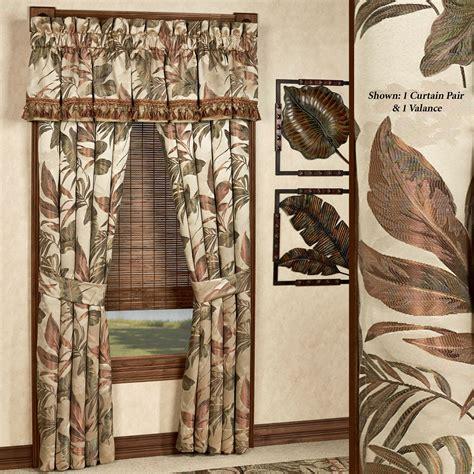 Bali Drapes - bali palm tropical window treatments by croscill