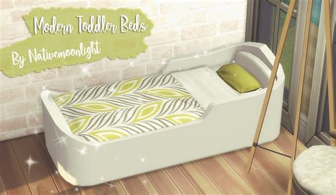 native moonlights modern toddler beds sweet sims  finds