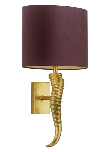 horn gold leaf wall light by heathfield let there be