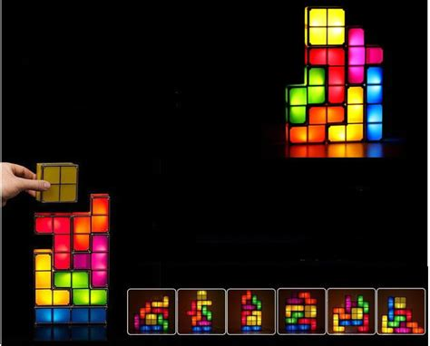tetris stackable led desk light tetris stackable led desk l light feelgift