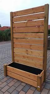 sichtschutz mobiler zaun blumenkasten blumenkubel 202x120 With französischer balkon mit garten rolltor selber bauen