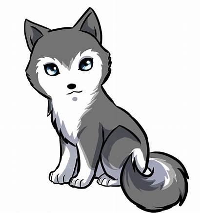 Wolf Drawing Anime Clipart Husky Kawaii Drawings