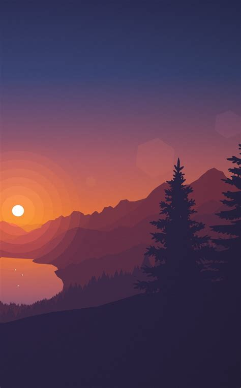 Support us by sharing the content, upvoting wallpapers on the page or sending your own. Poly Lakeside Minimal, HD 4K Wallpaper