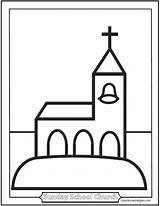 Church Coloring Sheets Children Pages Preschool Catholic Printable Sheet Sanctuary Simple Saintanneshelper Sketch Template sketch template