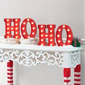 1000 ideas about light up letters on pinterest marquee for Ho ho ho lighted letters