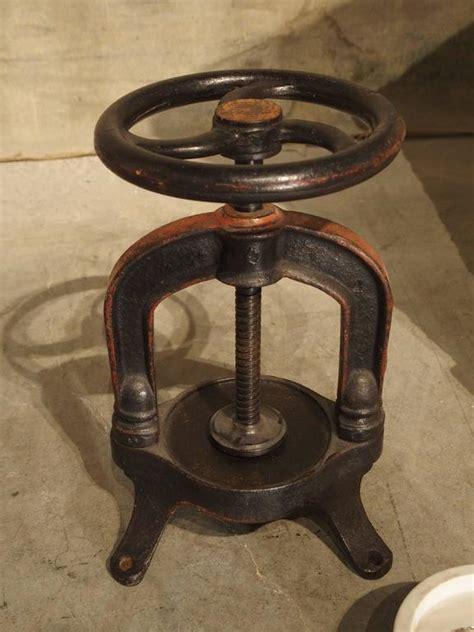 antique french fruit  wine grape press circa