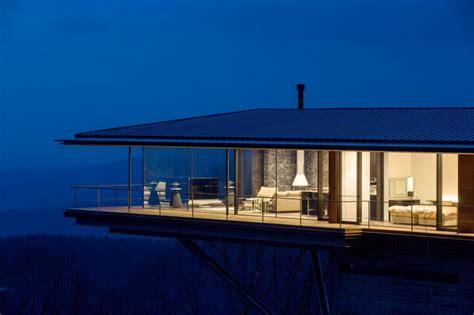 mountain home glass walls  terrace   views