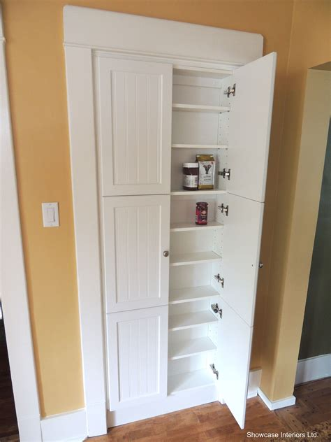 shallow pantry cabinet  place   pre existing