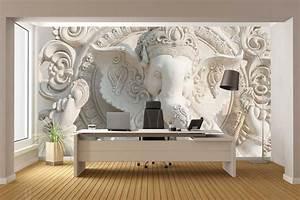 Ganesha Idol Black And White 3D Wallpaper For Walls. Walls ...