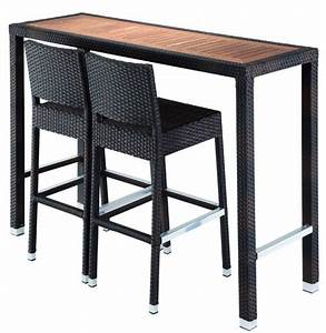 Drigani Poseur Table Two High Stools Outdoor Furniture