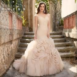 blush plus size wedding dress aliexpress buy vintage mermaid wedding dresses 2016 robe de mariee blush chagne ruffles