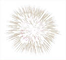 White Fireworks with Transparent Background