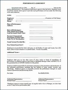 music performance contract free printable documents With music performance contract template