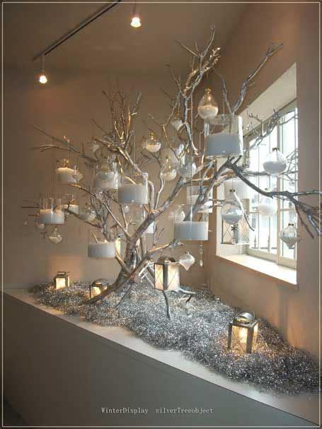 Weihnachtsdeko Fenster Baum by Silberzweigbaum Winterdekor Weihnachten