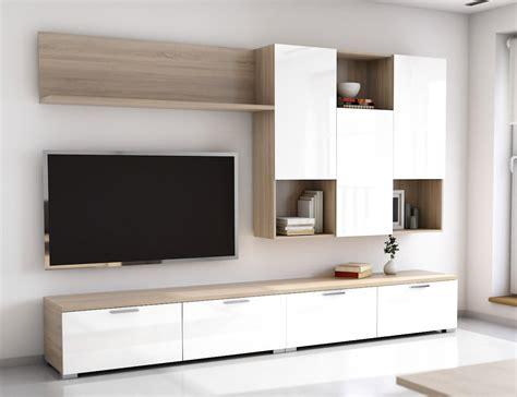 mueble salon blanco coleccin galiano modular de saln