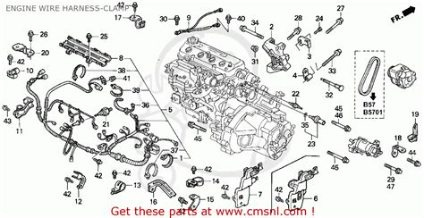 2005 Civic Engine Wire Harnes by 32110pt6a00 Wire Harness Engine Honda Buy The 32110