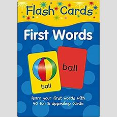 Flash Cards First Words Amazoncouk Igloo Books Ltd 9781848175891 Books