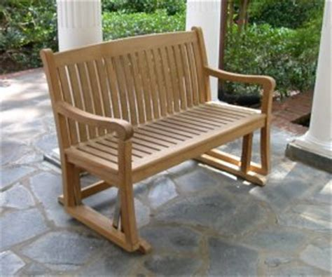 buy classic teak glider benches factory direct pricing