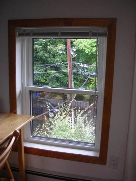 Interior window wood trim photos