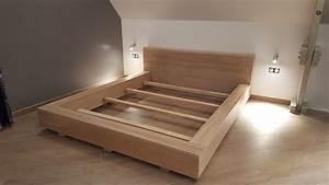 Fabriquer Un Lit En Palette : fabriquer un lit sur mesure avec nos panneaux en ch ne massif et faire un lit avec des palette ~ Dode.kayakingforconservation.com Idées de Décoration