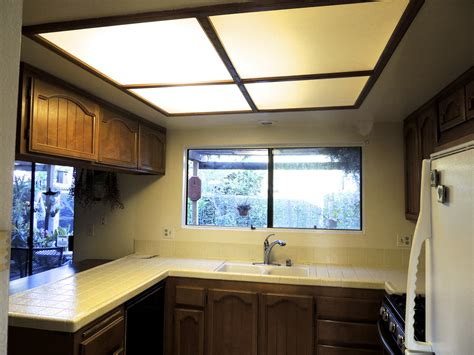 kitchen fluorescent light replacement replace recessed fluorescent light fixture with led 4880
