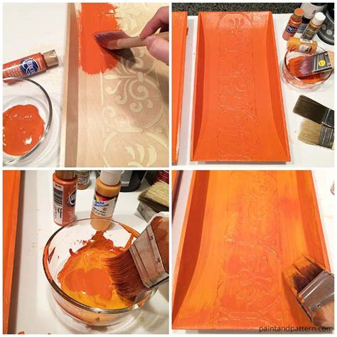 stencil how to replicate aged terracotta wall paint pattern