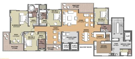 drawing unit plan bhk small house plans