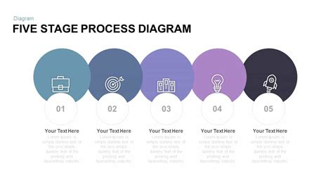 stage  process diagram powerpoint template  keynote