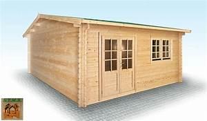 Chalet en bois en kit modèle Hiba 25 m2 en madriers de 44 mm
