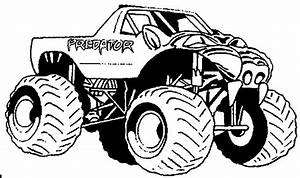Predator Monster Truck Kids39 Coloring Pages Pinterest