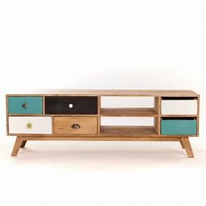 Meuble Tv Vintage Scandinave : meuble tv bas design scandinave ~ Teatrodelosmanantiales.com Idées de Décoration