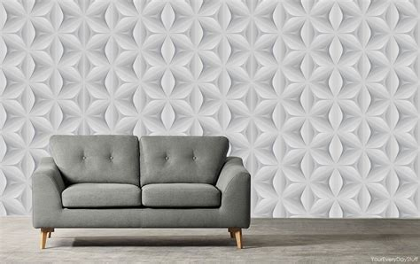 Grey 3d Wallpaper by Retro Wallpaper Vintage Leaf 3d Abstract Geometric