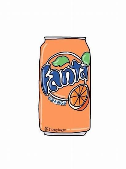 Orange Fanta Sticker Drawing Stickers Cola Overlay
