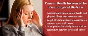 Psychological Stress Could Up Cancer Mortality Rates