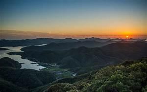 Landscape, Nature, Sunrise, Mountain, Villages, Forest