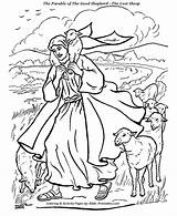Shepherd Coloring Jesus Bible Parable Drawing Sheep Parables Crafts Clipart Lost Lamb Sunday Printables Illustrations Clip Lord God Verse Luke sketch template