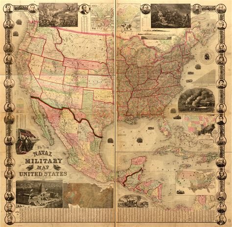 naval  military map   united states