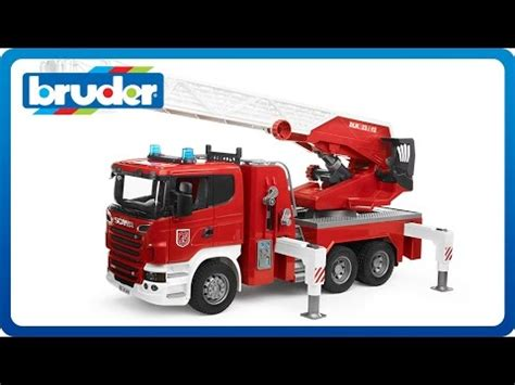 bruder fire truck bruder toys scania r series fire engine with light sound