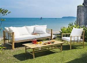 Salon De Jardin Exterieur : mobilier exterieur en bambou ~ Teatrodelosmanantiales.com Idées de Décoration