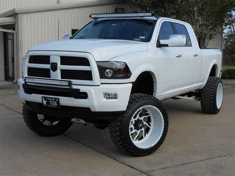 cummins truck white lifted 2014 ram diesel photo gallery truck of the month