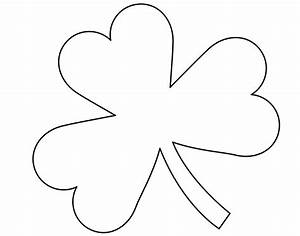 5 best images of four leaf shamrock template printable With shamrock cut out template