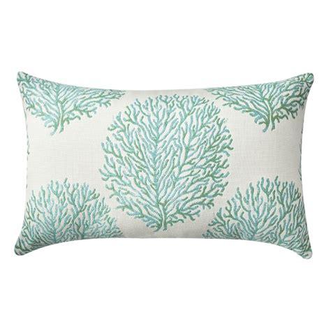 coral lumbar pillow outdoor coral reef jacquard lumbar pillow aruba