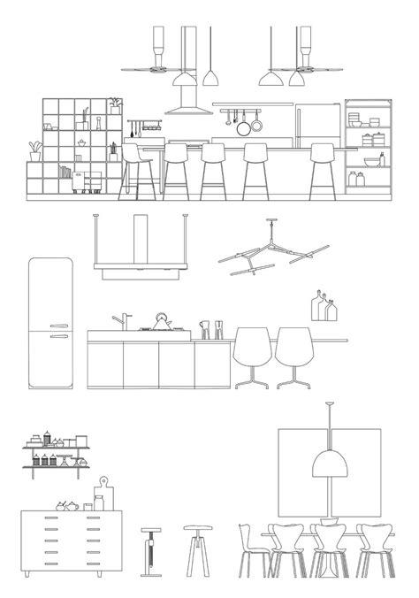 Modern Kitchen Dwg Pdf Ai | CAD | toffu.co | Cad Dwg