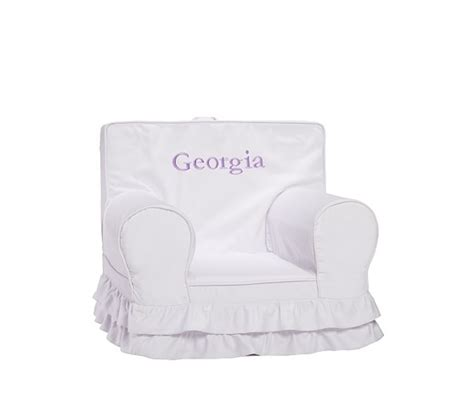 ruffle anywhere chair slipcover only pottery barn